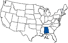 Alabama Area Code Map
