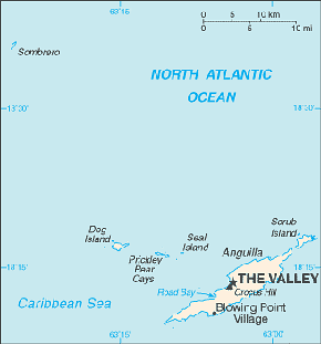 Anguilla Area Code Map