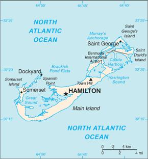 Bermuda Area Code Map
