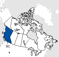 British Columbia Area Code Map