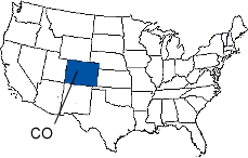 Colorado Area Code Map
