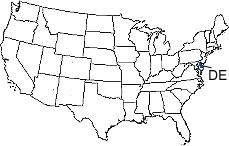 Delaware Area Code Map