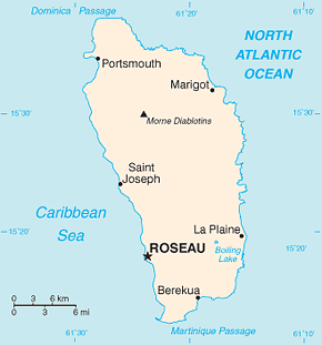 Dominica Area Code Map