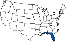 Florida Area Code Map
