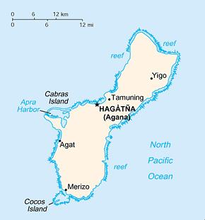 Guam Area Code Map