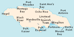 Jamaica Area Code Map