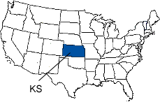 Kansas Area Code Map