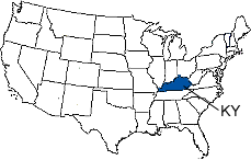 Kentucky Area Code Map