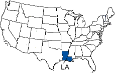 Louisiana Area Code Map