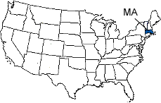 Massachusetts Area Code Map