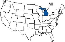 Michigan Area Code Map