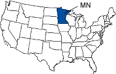 Minnesota Area Code Map