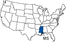 Mississippi Area Code Map