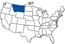 Montana Area Code Map