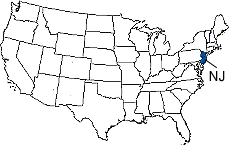 New Jersey Area Code Map