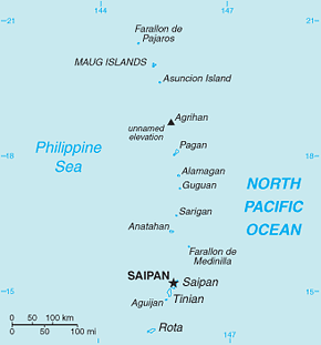 Northern Mariana Islands Area Code Map