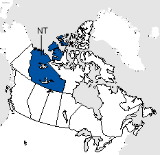 Northwest Territories Area Code Map