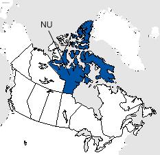 Nunavut Area Code Map