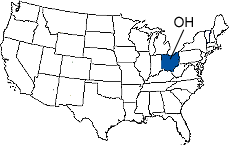 Ohio Area Code Map