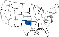 Oklahoma Area Code Map