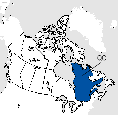 Quebec Area Code Map