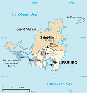 Sint Maarten Area Code Map
