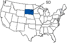 South Dakota Area Code Map