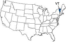 Vermont Area Code Map