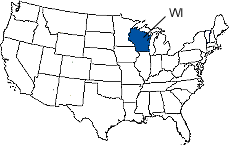 Wisconsin Area Code Map
